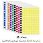 1 cm Multicolore Cercle Ronde Gommettes Autocollants - 10 Assortis Couleurs, Paquet de 3000 de la marque TownStix image 2 produit