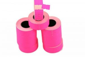 (10rouleaux) Rose 21x 12mm Papier coloré Autocollant Prix Gun Pricemarker étiquettes MX-5500 de la marque Labels image 0 produit