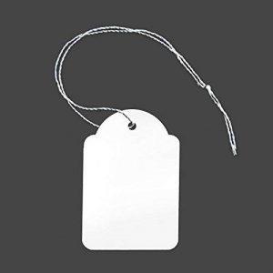 100étiquettes avec fil 36x 53mm Prix Étiquettes prix Étiquettes fil Panneaux Bijoux Étiquettes fil étiquette suspendu étiquettes carton étiquette de prix [H 2653F] de la marque Inconnu image 0 produit