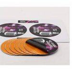 100 étiquettes CD - DVD autocollantes VERSO OPAQUE autocollant de diamètre 117 mm + trou 17 mm – verso opaque pour éliminer tout effet de transparence (cd couleur ou imprimé) ou pour couvrir une étiquette existante - livré avec curseur de placement – feui image 1 produit