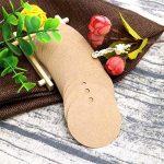 100étiquettes rondes pour cadeaux en papier Kraft de 5,5cm avec 30 mètres de ficelle de jute pour accrocher vos étiquettes d'artisanat ou vos créations d'étiquettes., marron, 5.5CM de la marque jijAcraft image 4 produit
