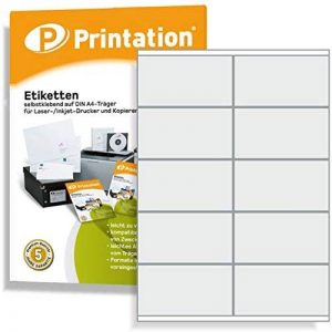 1000 Étiquettes autocollantes sur a4 105 x 57 mm (blanc) de la marque Printation image 0 produit