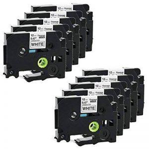 10X Compatible Tze 231 Ruban adhésif feuilleté pour Brother P-touch Label Maker Noir sur blanc Cassettes 12mm de la marque image 0 produit