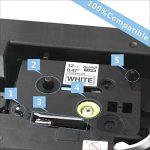 10X Compatible Tze 231 Ruban adhésif feuilleté pour Brother P-touch Label Maker Noir sur blanc Cassettes 12mm de la marque image 1 produit