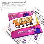 12 fiches adhésives Conservateur de Puzzles: Préservezet attachez votre chef d'œuvre sous forme de puzzle en toute simplicité – cadrez facilement la plupart des bords avec un adhésif qui dure de la marque aGreatLife image 4 produit