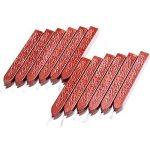 12 Pièces Bâtons de Cire à Cacheter avec Mèches Antique Cire d'Étanchéité pour Manuscrit de Feu pour Timbre de Cachet de Cire (Couleurs de Vin Rouge) de la marque Bememo image 3 produit