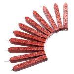 12 Pièces Bâtons de Cire à Cacheter avec Mèches Antique Cire d'Étanchéité pour Manuscrit de Feu pour Timbre de Cachet de Cire (Couleurs de Vin Rouge) de la marque Bememo image 4 produit