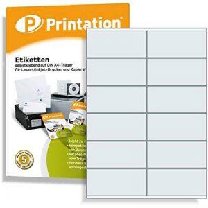 1200 Étiquettes autocollantes sur a4 105 x 48 mm (blanc) de la marque Printation image 0 produit