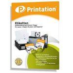 1200 Étiquettes autocollantes sur feuilles a4–support 97 x 42,3 mm (blanc) de la marque Printation image 3 produit
