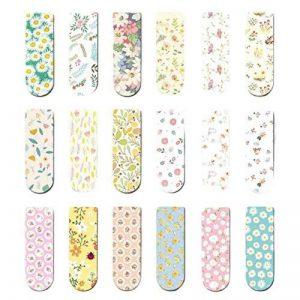 18 Pièces Mini Magnet Signet Papier Clips Magnétique Autocollants Cadeaux, Fleurs De Printemps de la marque Blancho image 0 produit