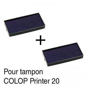 2 Cassette d'encre recharge pour tampon COLOP Printer 20 38x14mm - Rouge de la marque Générique image 0 produit