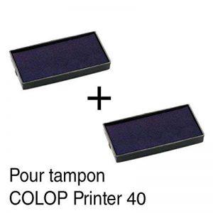 2 Cassette d'encre recharge pour tampon COLOP Printer 40 59x23mm Noir de la marque Générique image 0 produit