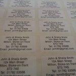 200 Blanc Mat plastique personnalisé imprimé mini adresse étiquettes auto-adhésives 40x20mm AUTOCOLLANTS (GRATUIT Emailed Anti Rouille AVANT imprimé) de la marque Minilabel image 1 produit