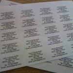 200 Gloss transparent clair personnalisé imprimé mini adresse étiquettes auto-adhésives 40x20mm AUTOCOLLANTS (GRATUIT Emailed Anti Rouille AVANT imprimé) de la marque Minilabel image 1 produit