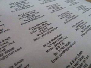 200 Mat Transparent Translucide personnalisé imprimé mini adresse étiquettes auto-adhésives 40x20mm AUTOCOLLANTS (GRATUIT Emailed Anti Rouille AVANT imprimé) de la marque Minilabel image 0 produit