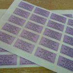 200 nacré violet personnalisé imprimé mini adresse étiquettes auto-adhésives 40x20mm AUTOCOLLANTS (GRATUIT Emailed Anti Rouille AVANT imprimé) de la marque Minilabel image 1 produit