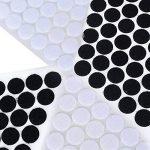 200 Paires 2cm Blanc + Noir Velcro Points Bande Adhésive Rond Cercle Crochet Boucle Pastilles Autocollantes Rubans Adhésifs Scratch pour Mercerie Scrapbooking Loisirs créatifs DIY de la marque JNCH image 2 produit
