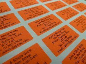 200 Radiant rouge personnalisé imprimé mini adresse étiquettes auto-adhésives 40x20mm AUTOCOLLANTS (GRATUIT Emailed Anti Rouille AVANT imprimé) de la marque Minilabel image 0 produit