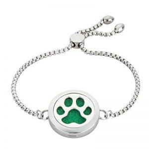 25mm réglable Bracelet Diffuseur d'huile essentielle–Animal–Bijoux en acier inoxydable Médaillon Bracelet par Jaoyu de la marque JAOYU image 0 produit