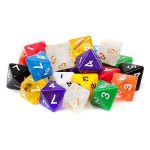 25 Pack of Random D8 Polyhedral Dice in Multiple Colors de la marque Brybelly image 1 produit