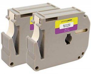 2X M K221 MK221 M-221 Noir sur Blanc 9 mm x 8 m Rubans Étiquettes compatibles avec Brother P-Touch PT-45, PT-55, PT-65, PT-70, PT-75, PT-80, PT-85, PT-90, PT-M95, PT-100, PT-110, Pt-BB4 Etiqueteuses de la marque Printing Saver image 0 produit