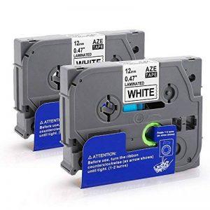 2x Ruban CompatibleBrother P Touch TZ Tape 12mm TZe-231, Cassettes avec PT-H100LB PT-E100 PT-D400 PT-1250 PT-H110 PT-1000 PT-1010R, noir sur blanc de la marque Oozmas image 0 produit