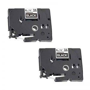 2x TZe-315 TZ-315 blanc sur noir 6mm x 8m Rubans Étiquettes compatibles avec Brother P-Touch PT-1000 1000P 1000BTS 1005 1010 1090 2030VP 2430PC 3600 9600 D200 D200VP D200BW D210 D210VP D400 D400VP D450VP D600VP E100 E100VP E300VP E550WVP H100LB H100R H101 image 0 produit