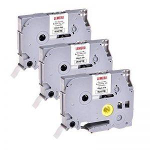 3 LEMERO Rubans Cassettes TZe-231 Compatible Laminé Ruban pour Etiqueteuse Noir sur blanc 12mm x 8m pour TZ Tape Brother P-Touch PT-1000 P700 9500 2430 GL-H100 GL-H105 GL-200 PT-1080 PTE-550WVP PT-P700 PT-H300 PT-1005 PT-1010 PT-1090 PT-1200 PT-1250 de la image 0 produit