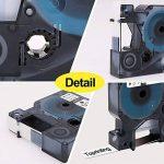 3 x Ruban Étiquettes Compatible Dymo Rhino 18444 S0718600 Industriel Vinyle Cassette 12mm x 5.5m Noir sur Blanc pour Rhino 1000 3000 4200 5000 5200 6000 Industriel Imprimantes de la marque Toprinting image 1 produit