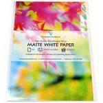 30 feuilles adhésives format A4 finition mate blanche compatibles imprimantes à jet d'encre et laser de la marque Evergreen Goods image 1 produit