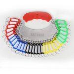 30 Pcs Porte-clés couleur, MEZOOM Kit de Étiquette Clef Key Tags en Plastique Avec un Rangement de Plat en Fer Pour Tags de Stockage Tri des clés de la marque MEZOOM image 1 produit