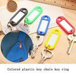 30 Pcs Porte-clés couleur, MEZOOM Kit de Étiquette Clef Key Tags en Plastique Avec un Rangement de Plat en Fer Pour Tags de Stockage Tri des clés de la marque MEZOOM image 4 produit