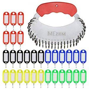 30 Pcs Porte-clés couleur, MEZOOM Kit de Étiquette Clef Key Tags en Plastique Avec un Rangement de Plat en Fer Pour Tags de Stockage Tri des clés de la marque MEZOOM image 0 produit