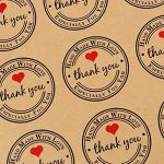 ❤(300pcs) 25 feuilles de Rond Thank You Autocollants avec Coeur Rouge - Handmade with Love & Especially for You Stickers Etiquettes pour Mariage Cadeau ou Enveloppe de la marque AONER image 1 produit