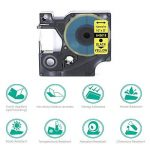3x Compatible Dymo D1 45018, Ruban pour étiqueteuse Noir sur Jaune 12mm x 7m, pour DYMO Label Manager 100, 120P, 160, 200, 210D, 220P, 260P, 280, 300, 360D, 400, 420P, 450, 450D, PC, PC II, PnP de la marque Oozmas image 1 produit