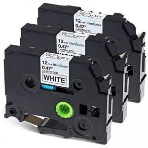 3x P Touch TZe Tape Compatible Brother TZe-231 TZ 231 Ruban pour étiqueteuse, 12mm x 8m Noir sur Blanc, Laminé Rubans pour PT-H100LB PT-H100 GL-H100 PT-H101C PT-1000 PT-1010 PT-1080 de la marque Wonfoucs image 0 produit