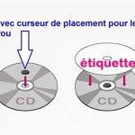 40 Étiquettes Autocollantes pour CD Maxi couvrantes - Impression Jet d'Encre VERSO OPAQUE- livré avec curseur de placement – feuille de 2 étiquettes cd/dvd pour pour imprimer et personnaliser vos cd ou DVD de la marque UNIVERS GRAPHIQUE image 2 produit