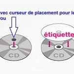 40 étiquettes CD - DVD autocollantes standard autocollant de diamètre 117 mm + trou 17 mm - livré avec curseur de placement – feuille de 2 étiquettes – étiquette cd/dvd pour imprimante jet d'encre et laser- pour imprimer et personnaliser vos cd avec des i image 2 produit