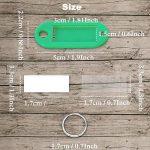 40pcs Porte Cle Étiquettes à bagages en plastique de voyage avec porte-clés etiquette d'identification Porte-Clés (8 couleurs) de la marque Patomos image 3 produit