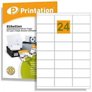 4429 3422 LA130 Lot de 2400 étiquettes autocollantes Blanc 70 x 35 mm Format A4 70 x 35 mm de la marque Printation image 0 produit