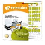 4429 3422 LA130 Lot de 2400 étiquettes autocollantes Blanc 70 x 35 mm Format A4 70 x 35 mm de la marque Printation image 2 produit