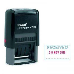 4750 Trodat/L1-Printy-Tampon dateur auto-encreur 'RECEIVED'Rouge/Bleu de la marque Trodat image 0 produit
