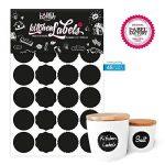 48 noire, cosmétiques, tableau de cuisine ronde autocollant de la marque the Label Factory by favlov image 1 produit