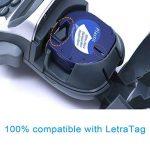 5 paquet 91201 Compatible Ruban Dymo LetraTag for Etiqueteuses,Pour 91220 Plastique, 12 mm x 4 m, Noir sur Fond Blanc de la marque Label-online image 1 produit