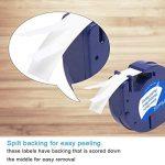 5 paquet 91201 Compatible Ruban Dymo LetraTag for Etiqueteuses,Pour 91220 Plastique, 12 mm x 4 m, Noir sur Fond Blanc de la marque Label-online image 2 produit