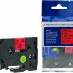 5rubans Cartouches compatible à Brother 231–73112mm 8m longue laminé remplace Tze-431231, Tze, Tze-531, Tze 631, TZe-731//Noir/Bleu/Rouge/Jaune/Vert sur blanc de la marque Maximustrade image 2 produit