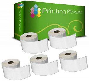 5 x 99012 Étiquettes pour Dymo LabelWriter & Seiko Imprimante d'étiquettes | 36mm x 89mm | 260 Étiquettes par Rouleau de la marque Printing Pleasure image 0 produit
