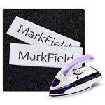 5 x Remplace les étiquettes de tissu Dymo S0718850 LT, ruban à repasser 18768 S0718840 Compatible avec Dymo LetraTag étiquettes thermocollantes LT-100H Plus LT-100T Plus QX50 XR XM 2000 Noir sur blanc Rouleau 12 mm × 2 m de la marque MarkField image 3 produit