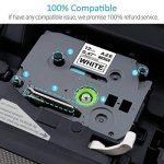 5 x Ruban Cassette Laminé TZ Tape Compatible avec Brother TZe-221/TZe-421/TZe-521/TZe-621/TZe-721 9mm x 8m Noir sur Blanc/Rouge / Bleu/Jaune / Vert pour Brother P-Touch PT-1000 de la marque COLORWING image 3 produit
