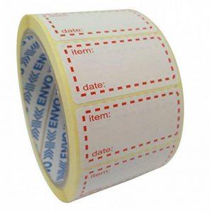 500 x Autocollants Congelables Étiquettes De Congélateur Sur Rouleau, Taille 50x25mm, Blanc Et Rouge Étiquettes De Date Pour L'autocollant De Nourriture de la marque ENVO image 0 produit